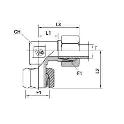 Cot 90 METRIC Filet Ext. (cu olandeza) con 24-Tub (cu olandeza si inel)