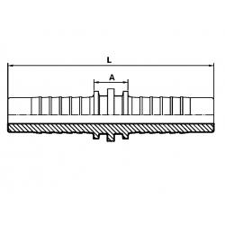 Conector dublu hidraulic DN20